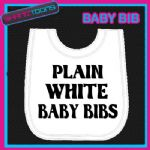 10 WHITE BABY BIBS PLAIN JOB LOT BULK BUY WHOLESALE